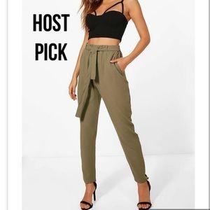 Host pick Khaki tie waist pants